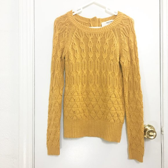 Sparrow Yellow Cable Knit Sweater